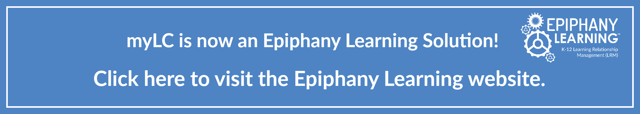 Epiphany Learning Announcement!